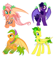 Fruit Bat Adoptables by Sakuyamon