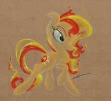 Meanie Fire-Haired Unicorn by getchanoodlewet