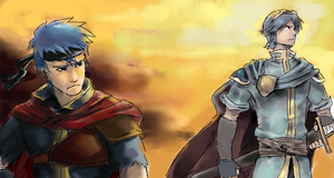 Marth and Ike by KyoAkiyamako