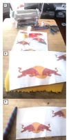 RedBull Logo Necklace Tutorial by tyney123
