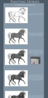 Greyscale Horse Tutorial Pt.1 by RejectAll-American