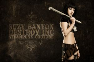 Suzy Destroy and Steampunk by destroyinc