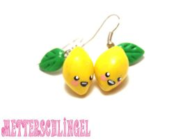 Lemon Earrings by Metterschlingel