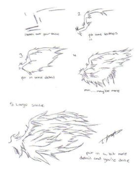 How to draw wings by LaLaAngelChaosFire