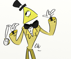 Bill Cipher by cartoonwho