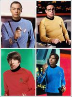 The Big Bang Theory Star Trek by Rabittooth