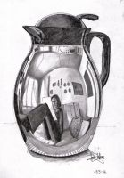 Selfportrait in a Coffeepot by SandraKristin