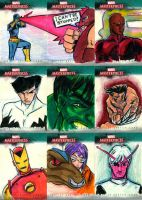 marvel sketch cards 4 by Julianlytle