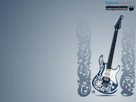 Wallpaper - Guitar Skin Design by rames