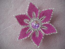 Crystal flower by Autumn-beads