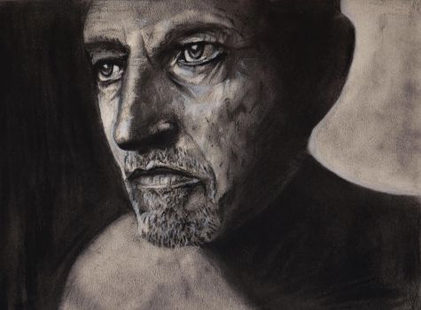 Charcoal practice 2 - Portrait of a man by JesterOfTheLost