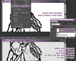 Lineart Coloring Tutorial by armaina