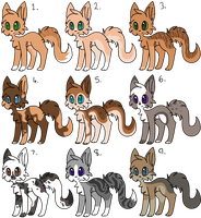 Cat designs from tryouts by blazinq