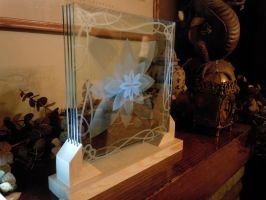 Etched Glass Lotus w base by ImaginedGlass