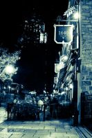 Narrow Street in Quebec City by arnaux
