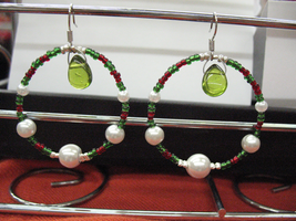 Christmas Colour Holiday Earrings by sampdesigns