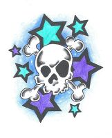 skull and stars by mybeautifulsickness