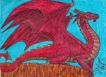 ACEO #1 Dragon finished (scanned) by ShelandryStudio