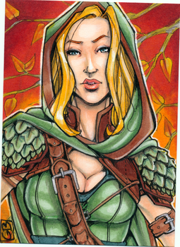 Sketchcard- Ellethwen by DangerWench