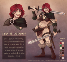 Tyra Character Sheet for Marie by Javadoodle