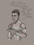 silly Tron sketch by Chaostructure