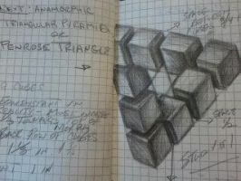 Penrose Triangle Study for Anamorph by SLSistrunk