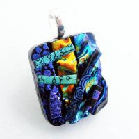 3D Abstract Fused Glass by Create-A-Pendant