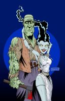 Mr and Mrs Monster color by mastaczajnik