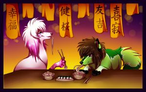 Sushi dogs. by SodaButtles
