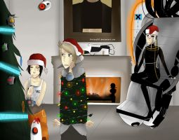 A Portal Christmas by Chrissytor