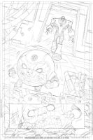Green Lantern animated  issue # 7 page 1 pencil by DarioBrizuelaArtwork
