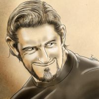 Wade Barrett, traditional drawing by Roselyne777