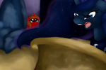 Darkened Flame Watching Luna Transform by xXxSparkieXxX