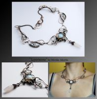 Lyonesse- wire wrapped copper necklace by mea00