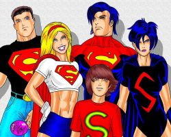 The Superman Family by r-i-p-p-l-e