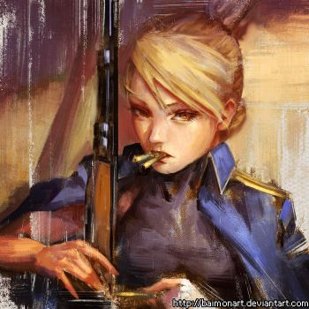 riza hawkeye by baimonart