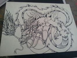 Dragon Tattoo Lineart by LookAliveHolly