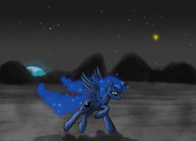 RUN LUNA by InkBlu