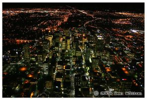 Calgary At Night - From Above by bennyunknown