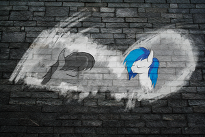 Wall Art: Octavia and vinyl by Chrispy248