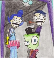 zim and family by Spongebobluvr66