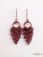 Chainmaille: Leaf Earrings by LinaIvelle