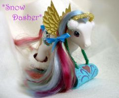Snow Dasher in action by PrincessXena1027