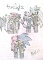 Sonamy, Shadouge, Silvaze- Twilight Love by XxFiery666xX