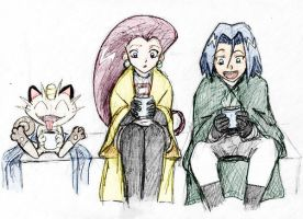 Team Rocket and Hot Cocoa by jameson9101322