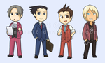 Ace Attorney chibis by london16