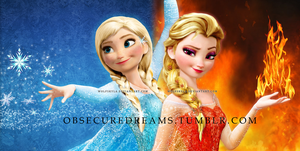 Anna of Ice | Elsa of Fire by wolfskyla