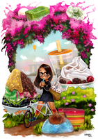 Candyland Here I Come by KaynessArt