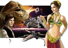 Slave Leia color.... by Ruihq