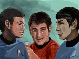 Welcome aboard, Mr. Spock by selkie-gal
